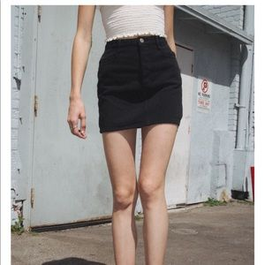 Brandy Melville x John Galt black denim skirt